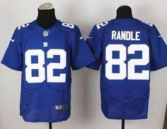 Nike New York Giants 82 Mario Manningham Blue Elite NFL Jerseys