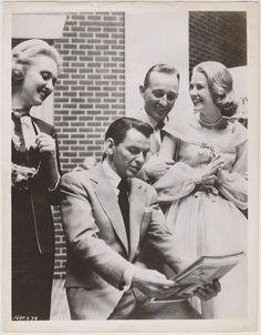 graciemonaco:  GRACE KELLY FRANK SINATRA BING CROSBY CELESTE HOLM High Society 1956 GRACE KELLY Promo Press Photo