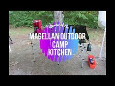 Review of the Magellan Outdoor Camp Kitchen - YouTube Camping Trailers, Camping Stuff, Outdoor Cooking, Frames, Kitchen, Youtube, Accessories, Cooking, Camp Trailers