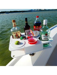 Docktail Bar: Fully Custom Bar Square Rail Mount Package for the boat. Gotta get this for the boat! Bacardi, Sailboat Living, Living On A Boat, Boat Design, Yacht Design, Accessoires Kayak, Boat Organization, Pontoon Boat Accessories, Boating Tips