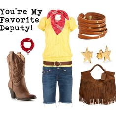 """""""Sheriff Woody"""" by favourite-fictional-fashions on Polyvore"""