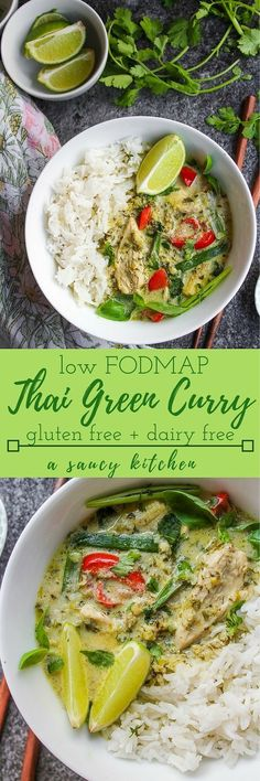 Low FODMAP Thai green curry - fresh, flavorful, and IBS friendly | gluten free, dairy free, grain free