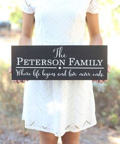 Morgann Hill Designs Where Life Begins Personalized Family Wall Sign | zulily