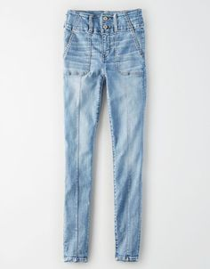 Shop Super High-Waisted Jeggings at American Eagle online. Browse this high-waisted jean in new washes and designs, always available in inclusive sizes. Buy Jeans, Slim Jeans, Skinny Jeans, Fleece Shorts, Linen Shorts, Oversized Jeans, Soft Pants, Mens Outfitters, American Eagle Jeans