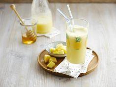 2 1-дюймовый круглый ананас  250мл Alpro Кокосовое Оригинальный напиток  2 чайные ложки меда