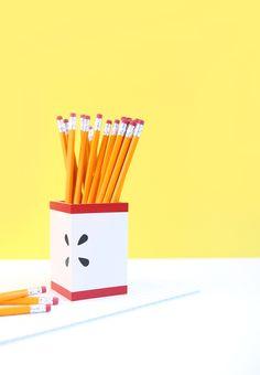 DIY Modern Apple Pencil Holder
