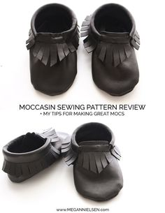 Mocassin sewing pattern review plus tips for making great moccasins by Megan Nielsen