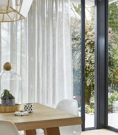 Get the new curtain look with Blinds Direct, framing your windows with wave-effect curtains. Our latest voile curtains, paired with our innovative surge trac. Curtains For Bifold Doors, Door Curtains, Curtains With Blinds, Blinds For Windows, Wave Curtains, Pleated Curtains, Curtain Fabric, Blinds Direct, Curtain Headings