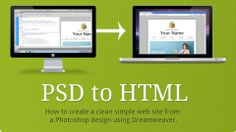 Beginner Photoshop to HTML5 and CSS3 - Learn how to convert a Photoshop design into HTML5/CSS3 using Dreamweaver.  - Gratis