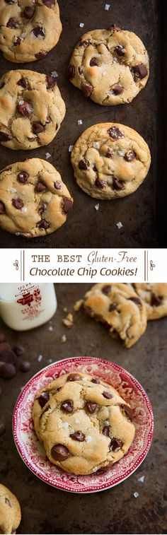 Gluten-Free Chocolate Chip Cookies {The Best!} - No one even knew they were gluten-free. SO good!