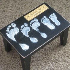 A family foot print step stool!! Gonna try this later today love it