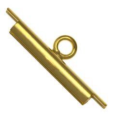 15mm Gold Plated Miyuki 11/0 Seed Bead Slide Tube