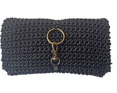 Handmade Textile Accessories Cases Bags Ties & by nimataxromata Golden Key, Macrame Cord, The Black Keys, Drawstring Pouch, Unique Presents, Plain Black, Key Rings, Are You The One