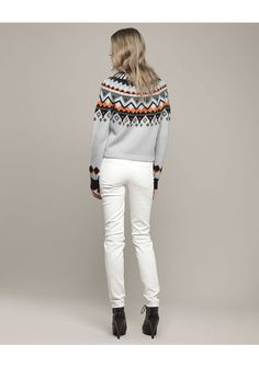 Moose Fairisle Mock Neck Sweater | Products, Sweaters and Moose