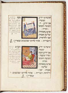 Haggada de Pessah avec commentaires (Haggada Braginsky Leipnik)  Parchemin · 44 ff. · 28.5 x 20 cm · Altona, copié et illustré par Joseph ben David de Leipnik · 1739