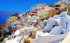 Top 20 Most Colorful Places in the World ~ Santorini, Greece
