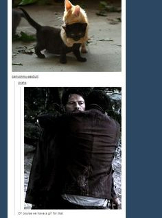"They have a GIF for hugging kitties: | Community Post: Definitive Proof That The ""Supernatural"" Fandom Has A GIF For Everything"