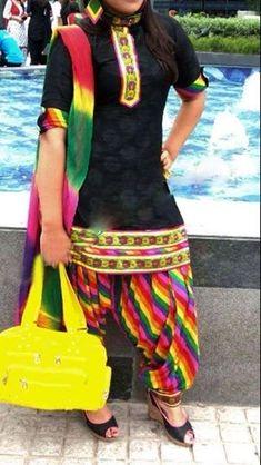 Black  colorful punjabi suit @Srandhawa