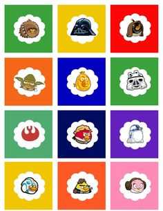 """@Jackie Godbold Robinson Sprangers's Minions:  Angry Birds Star Wars cupcake toppers - print on 8.5x11"""" card stock"""