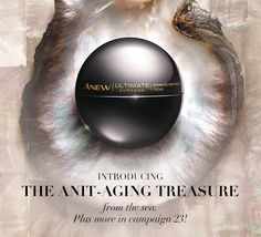 Avon Anew Ultimate Supreme Advanced Performance Crème | Born in the exotic waters of Tahiti, the black pearl is known to improve skin's ability to retain moisture. #skincare #avon #avonanew #anewyou