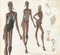 Design & Illustration by Dana Schnitman for La Blanca | Otis Fashion, 2005
