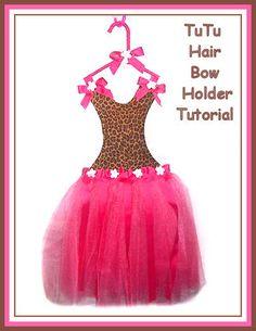 Ballerina Tutu Hair Bow Holder