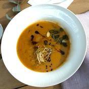 Recette soupe d'automne châtaigne potimarron d'angèle