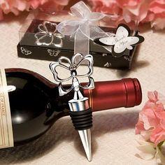 Butterfly Theme Wine Bottle Stopper in Gift Box Wedding Party Bridal Shower Favor Guest Gift Business Present Men