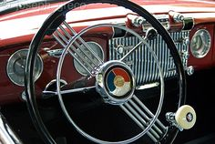 Image detail for -1952 buick dash with classic knob on steering wheel