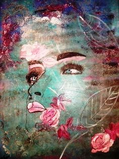 Rose  Acryl auf Leinwand  60 x 80 cm