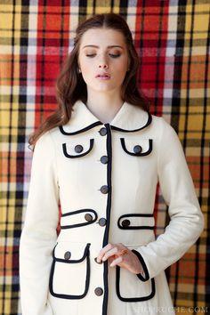 Classic black and white coat.