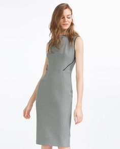 Image 2 of TUBE DRESS WITH PIPING from Zara