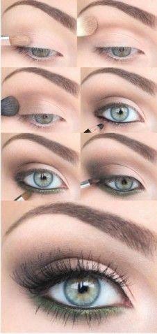 subtle green eyeshadow - Google Search