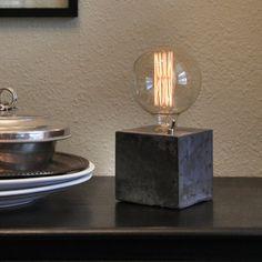 Lampe de bureau - lampe béton