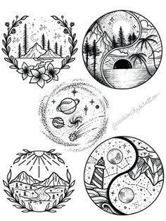 Art Drawings Sketches Simple, Pencil Art Drawings, Doodle Drawings, Tattoo Sketches, Easy Drawings, Doodle Art, Tattoo Drawings, Dog Tattoos, Cute Tattoos