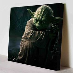 Yoda Star Wars Canvas Print by PeriodDesign on Etsy