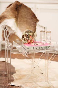 zara home acrylic tray table