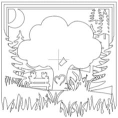 Shadow Box Paper Art 60 Wedding Anniversary, Unique Anniversary Gifts, Swing Painting, Paper Art Design, Paper Art Projects, Laser Paper, Old Oak Tree, Art Template, Shadow Box Frames