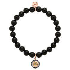 Buy Melissa Odabash Onyx and Rose Gold Bracelet, Black Online at johnlewis.com
