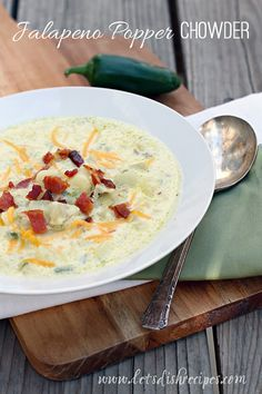 Jalapeno Popper Chowder!  I would love this yummy soup!