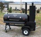 TS120P Offset Smoker With Live Smoke and Warming Box | SeriousBBQs.com