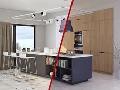 Εσείς επιλέγετε! Πριν αποφασίσετε για τα χρώματα στα έπιπλα κουζίνας σας, πρέπει να γνωρίζετε ότι το αισθητικό αποτέλεσμα του χώρου σας έχει πετύχει όταν αντιπροσωπεύει τη δική σας αισθητική και σας κάνει να νιώθετε ευχάριστα μέσα σ' αυτόν. Loft, Desk, House, Furniture, Home Decor, Lofts, Home, Table Desk, Haus