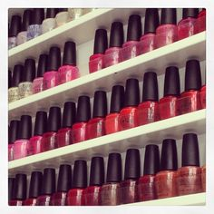 OPI colours rang of reds
