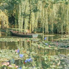 Monet's Garden trip report, travel tips and pictures! Monet's real life garden in Giverny, France is one of the treasures and most beautiful places of Europe and a great Paris side trip. A must-see for Monet, art and garden lovers. Photowall Ideas, Giverny France, Nature Aesthetic, Aesthetic Green, Claude Monet, Aesthetic Pictures, Mother Nature, Beautiful Places, Around The Worlds