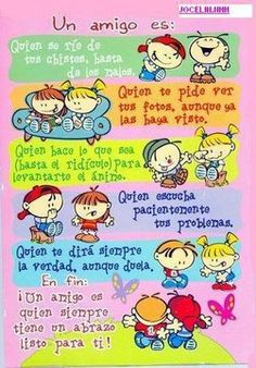 Thank you Vero! Spanish Posters, Spanish Quotes, Good Morning In Spanish, Albert Schweitzer, Visiting Teaching, Teaching Spanish, Real Friends, Friends Forever, Friendship Quotes