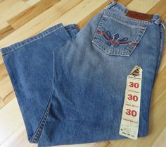 LUCKY BRAND Midday Candy 80318 Button Fly Crop Jeans NWOT Women's Size 10/30 NEW #LuckyBrand #CapriCropped