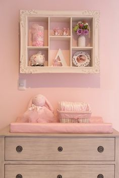 Really like the shadow box look that brings great details to the look of this nursery.