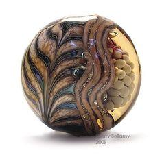 sherry bellamy lampwork beads   Feathered Chaos - Lampwork Focal