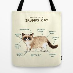 A tote for someone who identifies with a feline more than any other human being.