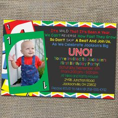 Hey, I found this really awesome Etsy listing at https://www.etsy.com/listing/199846226/uno-card-game-theme-birthday-invitation